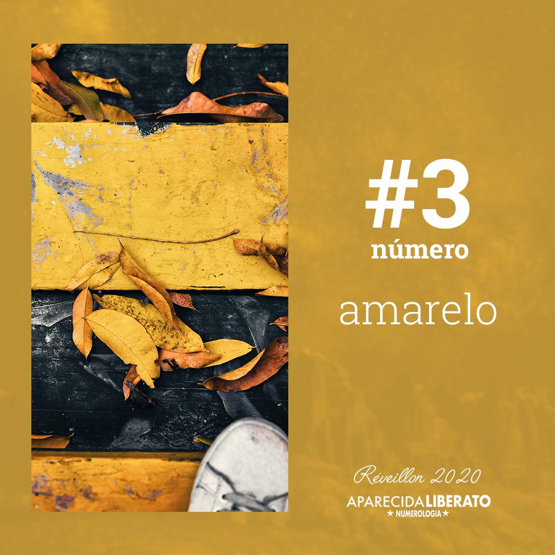 Cores do revéillon Número 3 Cor Amarelo Aparecida Liberato Numerologia
