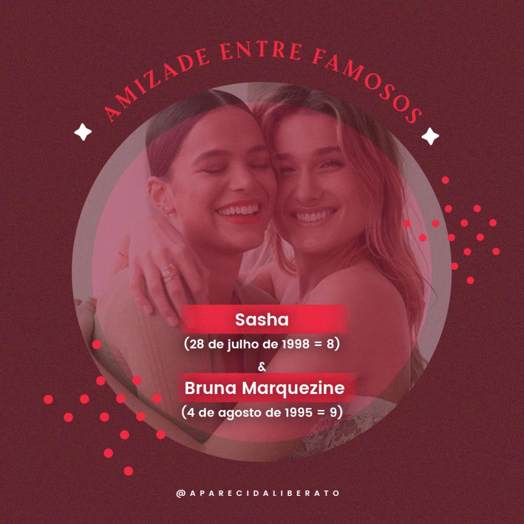 Dia do amigo: Bruna Marquezine e Sasha Meneghel - Aparecida Liberato Numerologia