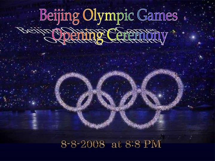 Relação do número 8 nas Olimpíadas de Beijing - Aparecida Liberato